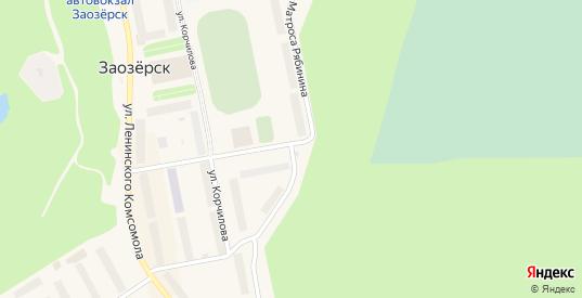 Улица Матроса Рябинина в Заозерске с номерами домов на карте. Спутник и схема онлайн