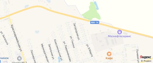 Загородная улица на карте Починка с номерами домов