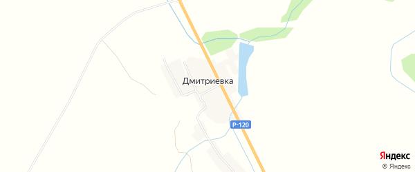 Карта деревни Дмитриевки в Смоленской области с улицами и номерами домов