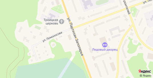Партизан Заполярья улица в Полярные Зори с номерами домов на карте. Спутник и схема онлайн
