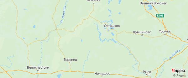 Карта Пеновского района Тверской области с городами и населенными пунктами