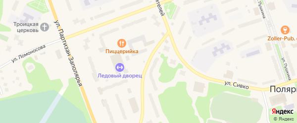 Улица Строителей на карте населенного пункта Зашейка с номерами домов