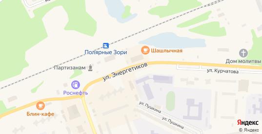 Улица Энергетиков в Полярные Зори с номерами домов на карте. Спутник и схема онлайн