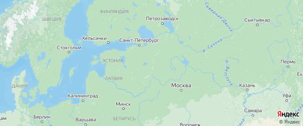 Карта Новгородской области с городами и районами