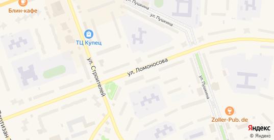 Улица Ломоносова в Полярные Зори с номерами домов на карте. Спутник и схема онлайн