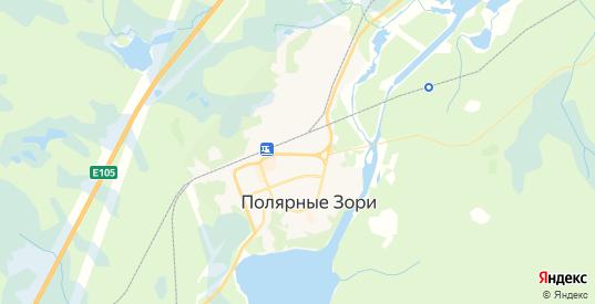 Карта Полярные Зори с улицами и домами подробная. Показать со спутника номера домов онлайн