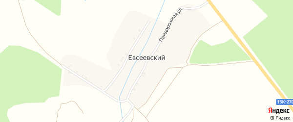 Полевая улица на карте Евсеевского поселка Брянской области с номерами домов