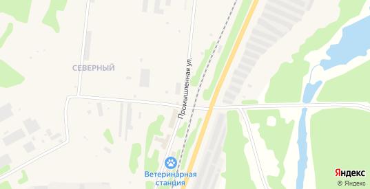Промышленная улица в Полярные Зори с номерами домов на карте. Спутник и схема онлайн