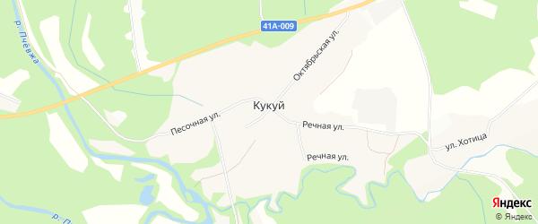 Карта деревни Кукуя в Ленинградской области с улицами и номерами домов