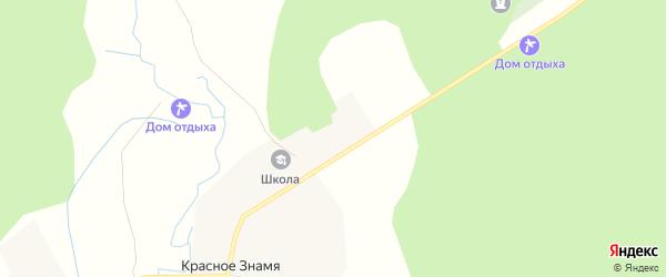 Карта деревни Красного Знамени в Смоленской области с улицами и номерами домов