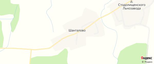 Карта деревни Шанталово в Смоленской области с улицами и номерами домов