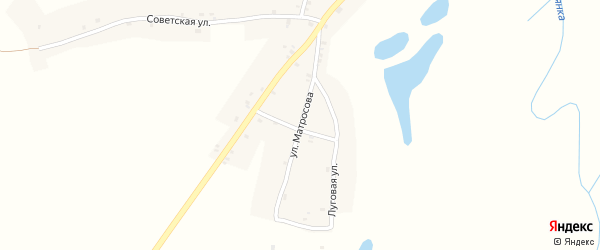 Улица Матросова на карте Нивного села с номерами домов