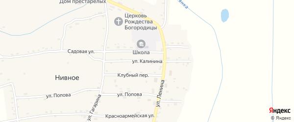 Улица Калинина на карте Нивного села с номерами домов