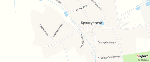 Первомайская улица на карте села Брянкустичи Брянской области с номерами домов