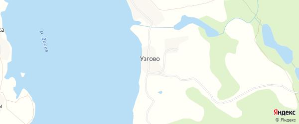 Карта деревни Узгово города Осташкова в Тверской области с улицами и номерами домов