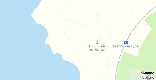 Территория Восточная губа в Полярные Зори с номерами домов на карте. Спутник и схема онлайн