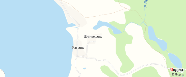 Карта деревни Шелехово города Осташкова в Тверской области с улицами и номерами домов
