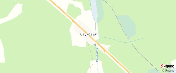 Карта Стуковьи деревни в Новгородской области с улицами и номерами домов