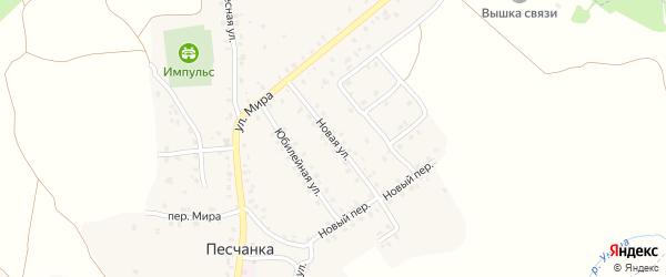 Новая улица на карте деревни Песчанки с номерами домов