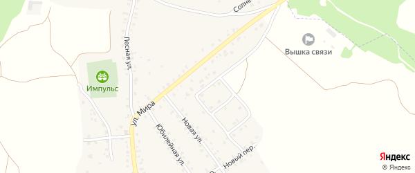 Полевая улица на карте деревни Песчанки с номерами домов