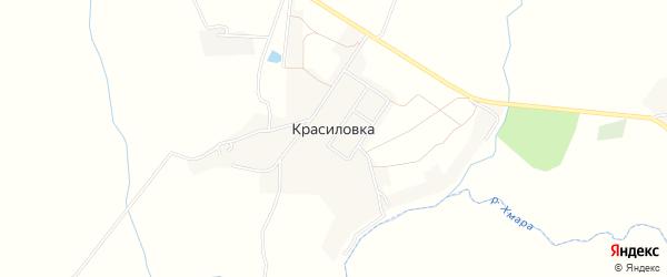 Карта деревни Красиловки в Смоленской области с улицами и номерами домов