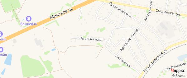Нагорный переулок на карте Ярцево с номерами домов