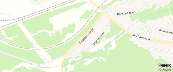 Слободская улица на карте Унечи с номерами домов