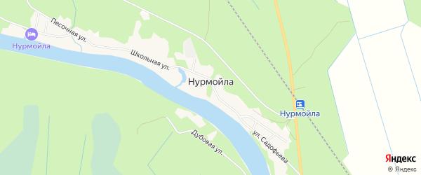 СНТ Медик на карте села Нурмойла Карелии с номерами домов