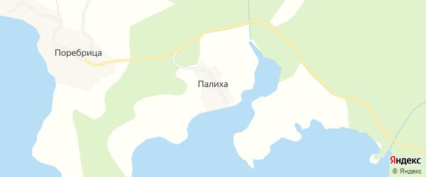 Карта деревни Палиха города Осташкова в Тверской области с улицами и номерами домов