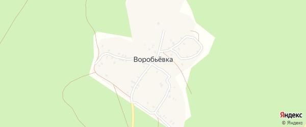2-й Сосновый переулок на карте деревни Воробьевки с номерами домов
