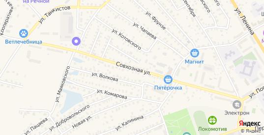 Совхозная улица в Унече с номерами домов на карте. Спутник и схема онлайн