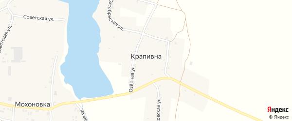 Заозерная улица на карте деревни Крапивна с номерами домов