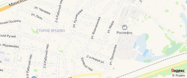 1-й Новый проезд на карте Ярцево с номерами домов