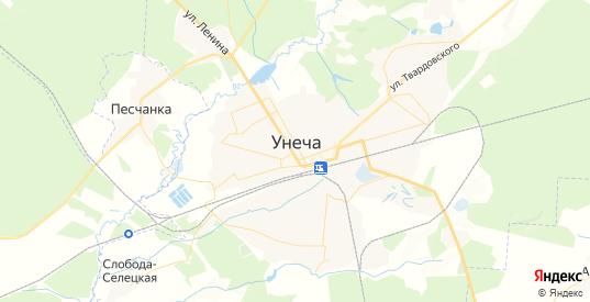 Карта Унечи с улицами и домами подробная. Показать со спутника номера домов онлайн