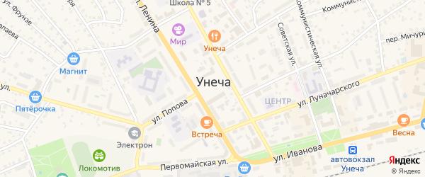 2-й Богунский переулок на карте Унечи с номерами домов