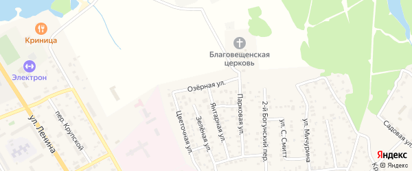 Озерная улица на карте Унечи с номерами домов
