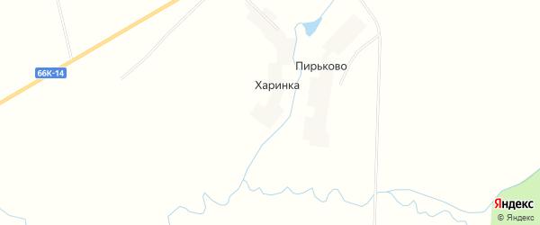 Карта деревни Харинки в Смоленской области с улицами и номерами домов