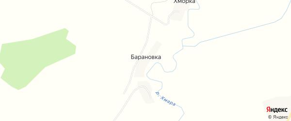 Карта деревни Барановки в Смоленской области с улицами и номерами домов