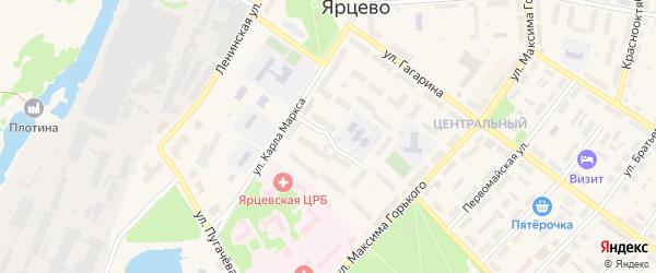 Интернациональная улица на карте Ярцево с номерами домов
