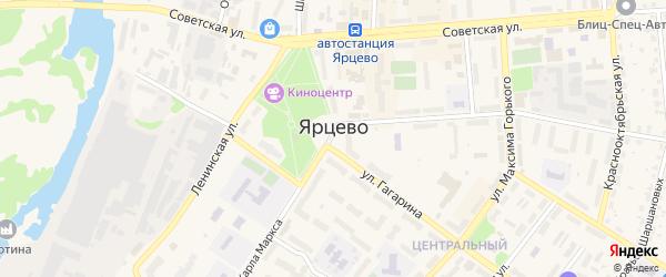 1-й Индустриальный проезд на карте Ярцево с номерами домов