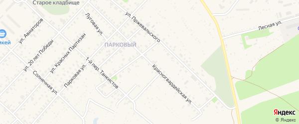 Красногвардейская улица на карте Ярцево с номерами домов