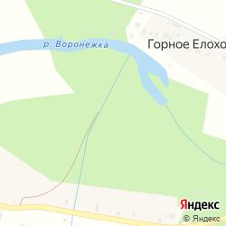 Участок с/х назначения на берегу реки Воронежка у деревни Шахново на карте