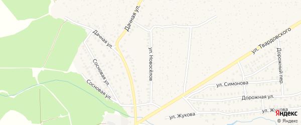 Улица Новоселов на карте Унечи с номерами домов