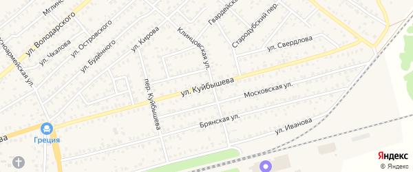 Улица Куйбышева на карте Унечи с номерами домов