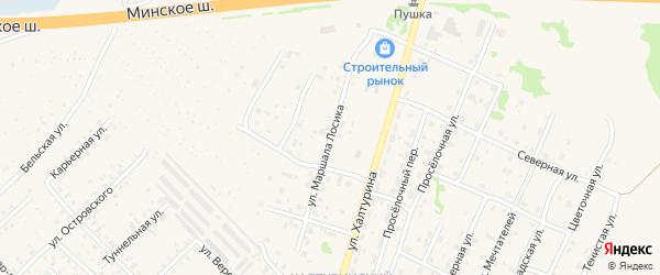 Улица Маршала Лосика на карте Ярцево с номерами домов