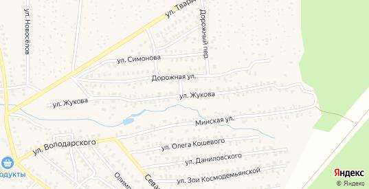 Улица Жукова в Унече с номерами домов на карте. Спутник и схема онлайн