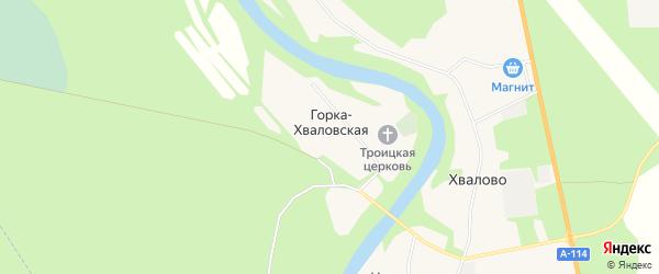 Карта Горки-Хваловской деревни в Ленинградской области с улицами и номерами домов