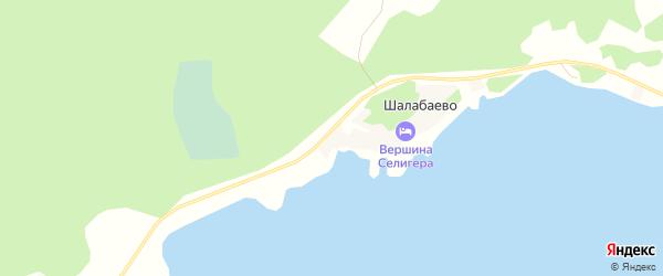 Карта деревни Шалабаево города Осташкова в Тверской области с улицами и номерами домов