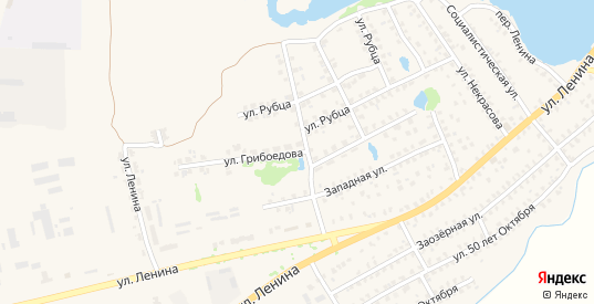 Улица Грибоедова в Стародуб с номерами домов на карте. Спутник и схема онлайн