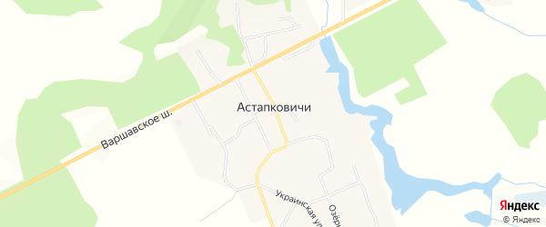 Карта деревни Астапковичи в Смоленской области с улицами и номерами домов